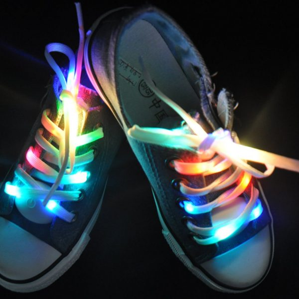 Led Light Waterproof Shoelaces Shoestring Battery Powered