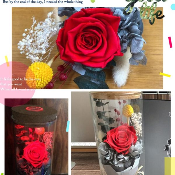 Led Artificial Rose Flower With Remote Controller Forever Love Gift