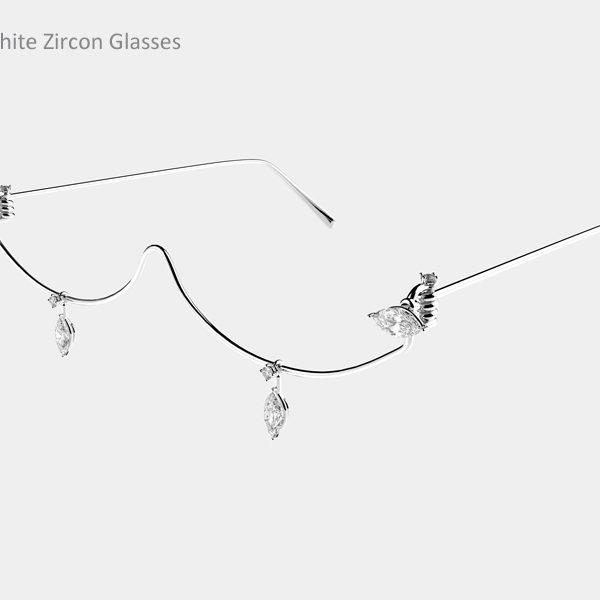 White Zircon Glasses