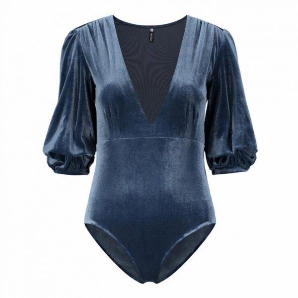 navy blue bodysuit